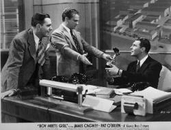 Pat O'Brien and James Cagney in Boy Meets Girl.