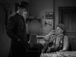 Spencer Tracy as Father Flanagan meets Mickey Rooney as Whitey Marsh.