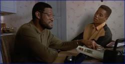 Laurence Fishburne and Cuba Gooding Jr in Boyz n the Hood