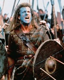 Mel Gibson as William Wallace.
