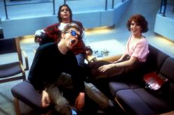 Anthony Michael Hall, Judd Nelson and Molly Ringwald in The Breakfast Club.
