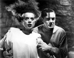 Elsa Lanchester and Colin Clive in The Bride of Frankenstein