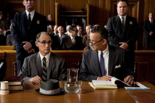 Mark Rylance and Tom Hanks in Steven Spielberg's Bridge of Spies.