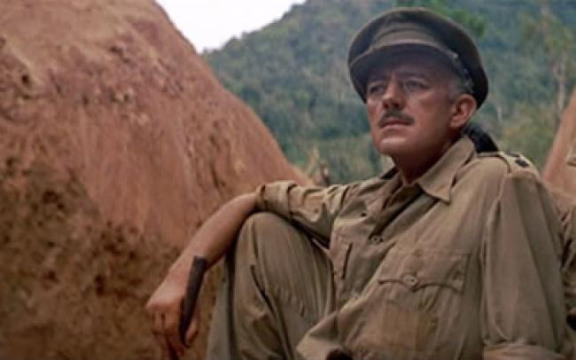 Alec Guinness in The Bridge on the River Kwai.
