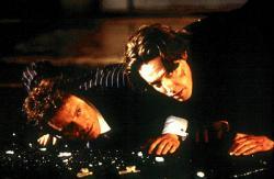 Colin Firth and Hugh Grant in Bridget Jones's Diary.