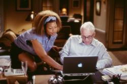 Queen Latifah and Steve Martin in Bringing Down the House.