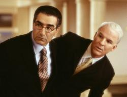 Eugene Levy and Queen Latifah in Bringing Down the House.