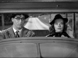 Cary Grant and Katharine Hepburn in Bringing Up Baby.