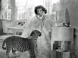 Katharine Hepburn with Baby in Bringing Up Baby.