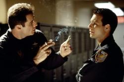 John Travolta and Christian Slater in Broken Arrow.