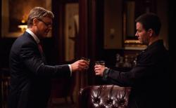 Russell Crowe and Mark Wahlberg in Broken City.