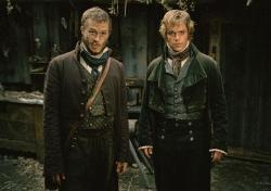 Heath Ledger and Matt Damon in Brothers Grimm.