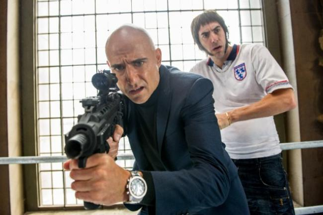 Mark Strong and Sacha Baron Cohen in The Brothers Grimsby
