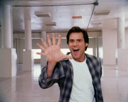 Jim Carrey in Bruce Almighty.