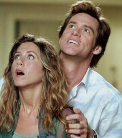 Jennifer Aniston and Jim Carrey in Bruce Almighty.