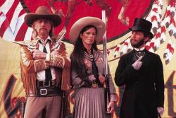Paul Newman, Geraldine Chaplin, and Joel Grey in Buffalo Bill and the Indians, or Sitting Bull's History Lesson.