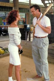 Susan Sarandon and Kevin Costner in Bull Durham.