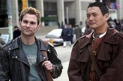 Seann William Scott and Chow Yun-Fat in Bulletproof Monk.