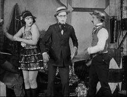 Bebe Daniels, Harold Lloyd and Snub Pollard in Bumpin into Broadway
