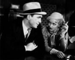 Pat O'Brien, Bette Davis and a cigarette in Bureau of Missing Persons.