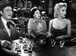 Arthur O'Connell, Eileen Heckart, and Marilyn Monroe in Bus Stop.