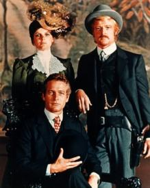 Katharine Ross, Paul Newman and Robert Redford in Butch Cassidy and the Sundance Kid.