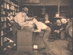 Fatty Arbuckle and Buster Keaton in The Butcher Boy.