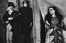 Werner Krauss, Conrad Veidt, and Lil Dagover in The Cabinet of Dr. Caligari.
