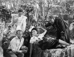 Kenneth Spencer, Eddie Anderson, Lena Horne and Rex Ingram in Cabin in the Sky.