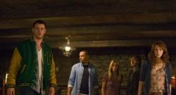 Chris Hemsworth, Jesse Williams, Anna Hutchison, Fran Kranz, and Kristen Connolly in The Cabin in the Woods.