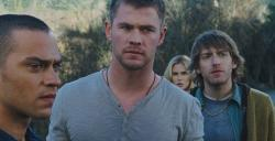 Jesse Williams, Chris Hemsworth, Anna Hutchinson and Fran Kranz, The Cabin in the Woods