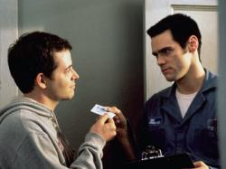 Mathew Broderick and Jim Carrey in the unjustly maligned The Cable Guy.