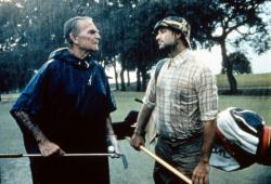 Henry Wilcoxon and Bill Murray in Caddyshack.