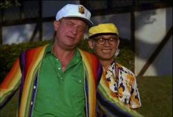 Rodney Dangerfield and Dr, Dow in Caddyshack