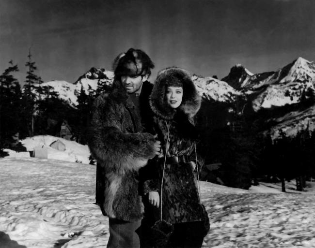 Clark Gable and Loretta Young in The Call of the Wild.