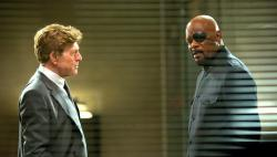 Robert Redford and Samuel L. Jackson in Captain America: The Winter Soldier.