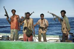 Faysal Ahmed, Barkhad Abdi, Barkhad Abdirahman, and Mahat M. Ali in Captain Phillips.