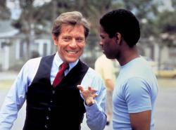 George Segal and Denzel Washington in Carbon Copy.