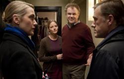 Kate Winslet, Jodi Foster, John C. Reilly and Christoph Waltz in Carnage.