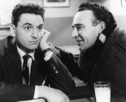 Bob Monkhouse and Kenneth Connor in Carry On Sergeant.