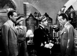 Paul Henreid, Ingrid Bergman, Claude Rains and Humphrey Bogard in Casablanca.