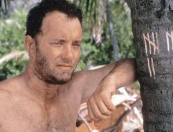 Tom Hanks in Cast Away.