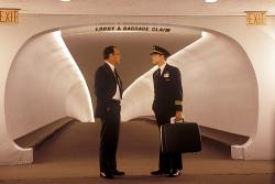 Tom Hanks and Leonardo DiCaprio in Catch Me if You Can.