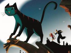 Dino is The Cat in Paris.