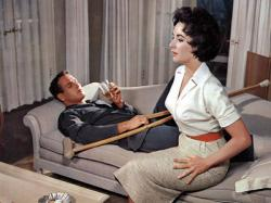 Paul Newman and Elizabeth Taylor in Cat on a Hot Tin Roof.