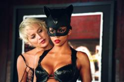 Sharon Stone and Halle Berry in Catwoman.