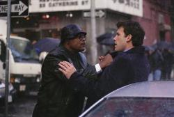 Samuel L. Jackson and Ben Affleck in Changing Lanes.