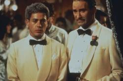 Robert Downey Jr. and Kevin Kline in Chaplin.