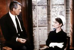 Cary Grant and Audrey Hepburn in Charade.