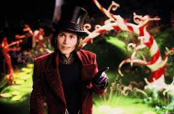 Johnny Depp as Willy Wonka in Charlie and the Chocolate Factory.